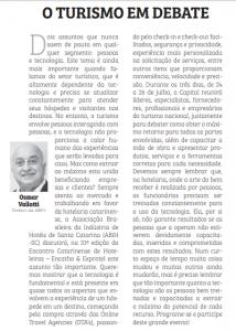 Osmar José Vailatti em artigo para jornal Notícias do Dia falando de Encatho 2018