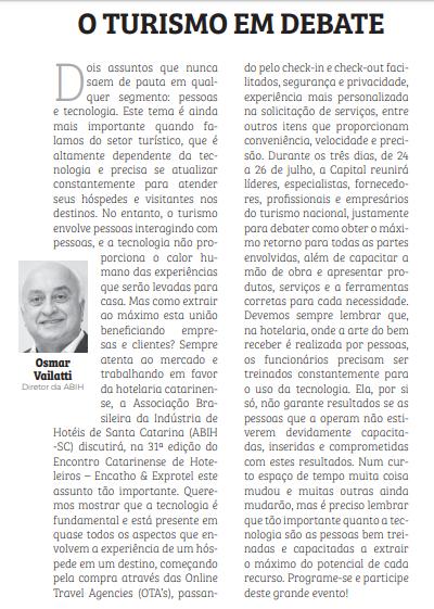Artigo de Opinião – Pessoas & Tecnologia no Turismo